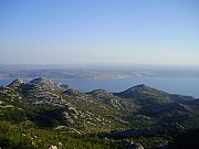A view of the sea from Velebit