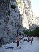 Rock climbing in Paklenica